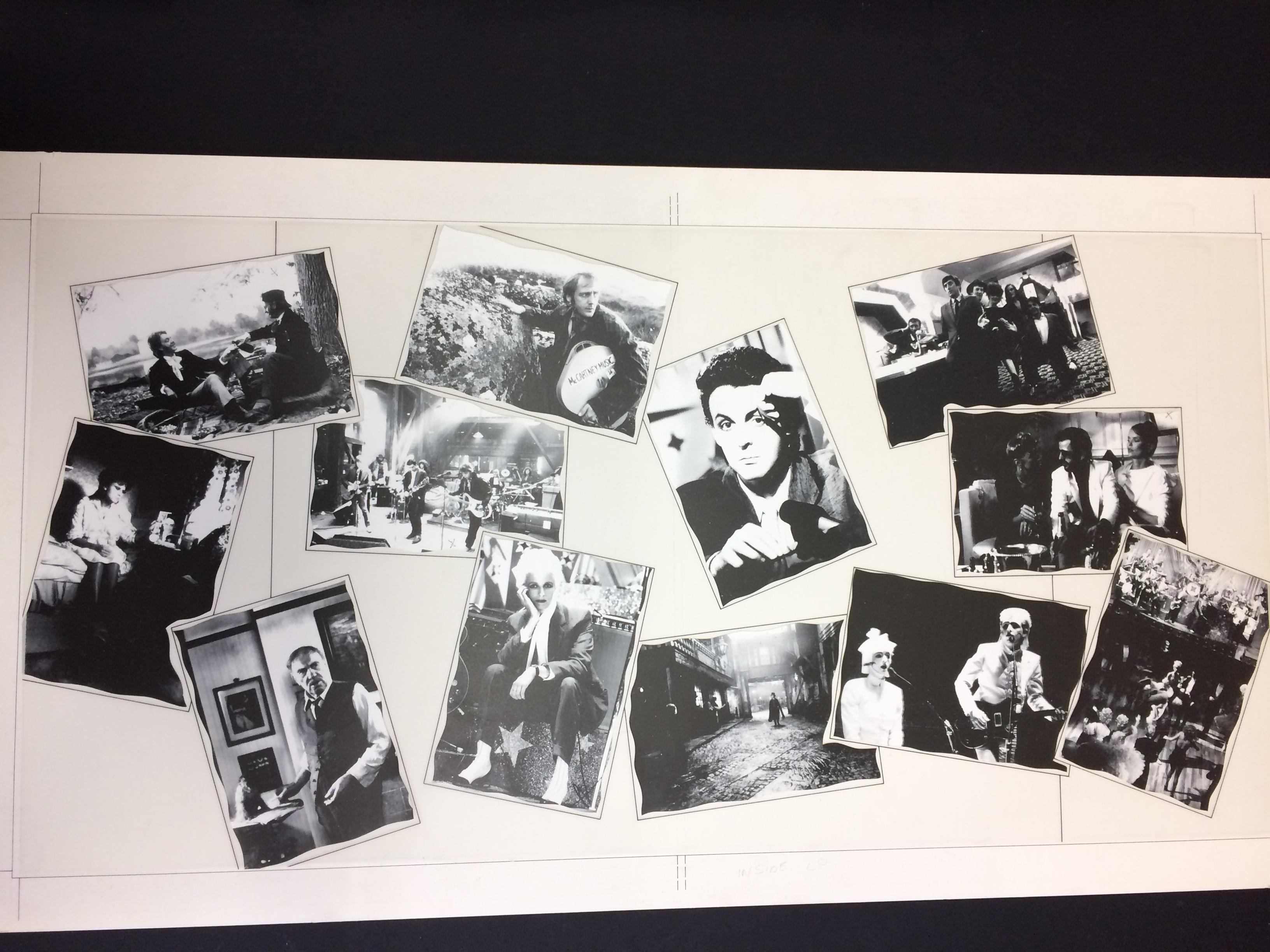 Paul McCartney original album artwork for Give my regards to broad street
