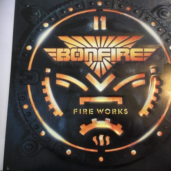 Bonfire a rare 1987 Enamel Promotional Artwork for Fireworks Album