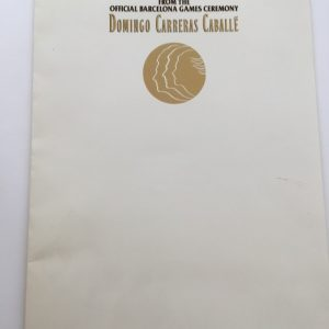 Domingo Carreras Caballe Press Folder For Barcelona Games