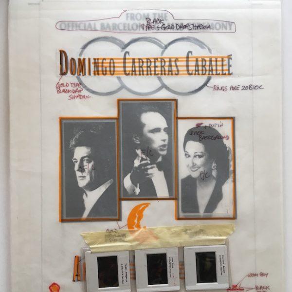 Domingo Carreras Caballe Original Artwork For Olympic Poster