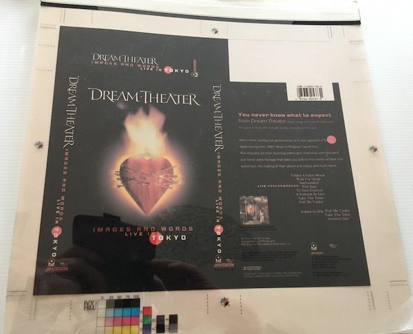 Dream Theater Original Separation Proof Artwork For Images And Words