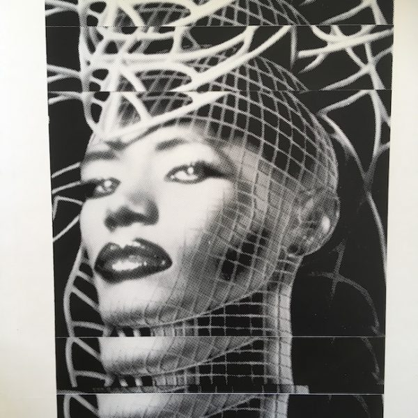 Grace Jones The Original Master Artwork for INSIDE STORY AD