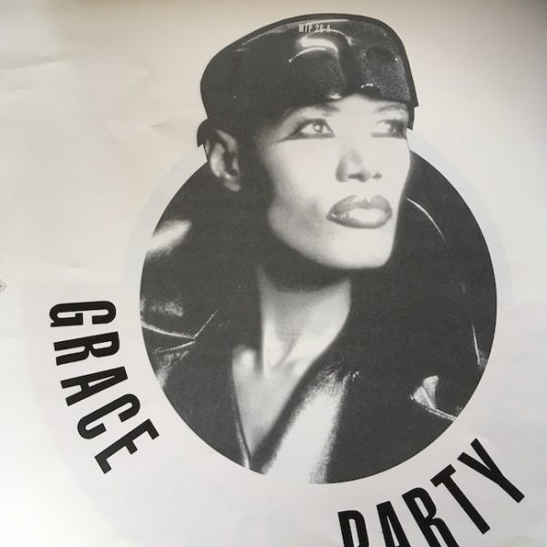 Grace Jones proof Artwork for Party Girl Picture Disc