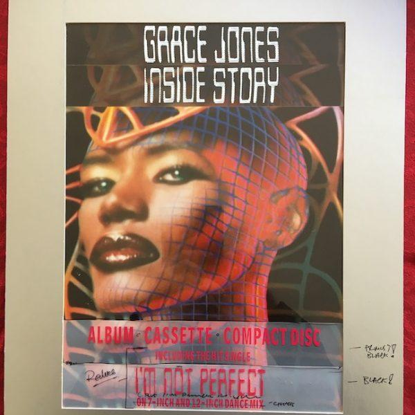 Grace Jones The Original Final Presentation Artwork for Inside Story