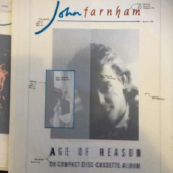 John Farnham Original Artwork Age Of Reason Advert