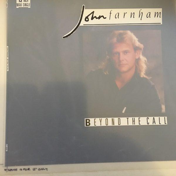 John Farnham Original Master Artwork For Beyond The Call Singles