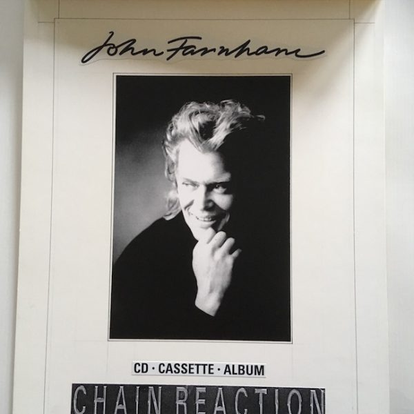 John Farnham OriginalL Master Artwork For Chain Reaction Poster