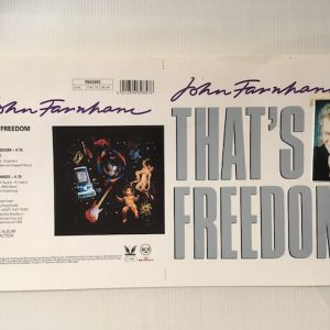 John Farnham Unreleased Proof Artwork That's Freedom 7″ Single