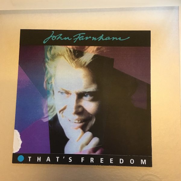 John Farnham Unused OriginalL Final Artwork Freedom Single version 2