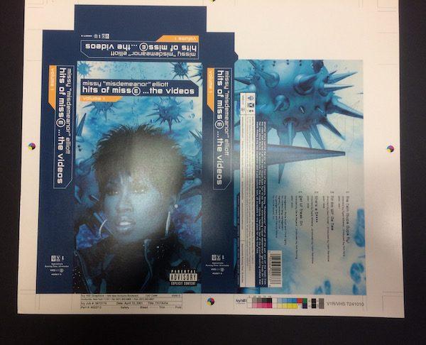 Missy Elliott Original Proof Artwork for Cover