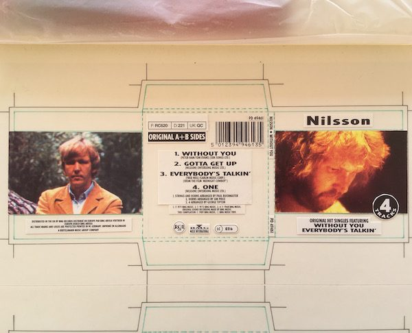 Nilsson Original Artwork For Without You 3 Inch CD