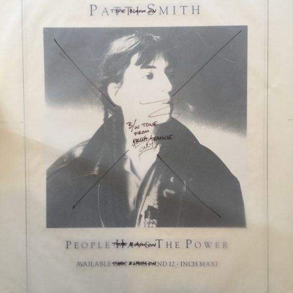 Patti Smith People Have the Power Proof original album artwork