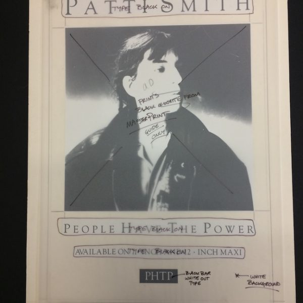 Patti Smith Original Artwork For People Have The Power Poster