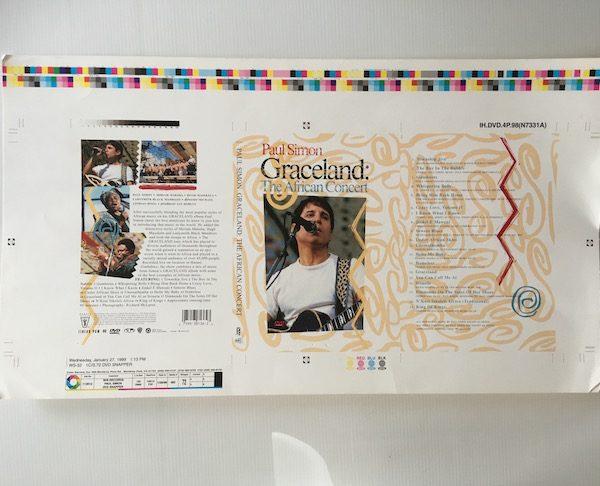 Paul Simon Original Proof Artwork For Graceland