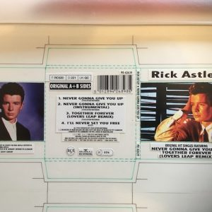 Rick Astley Original Artwork for the CD EP Never Gonna Give You Up