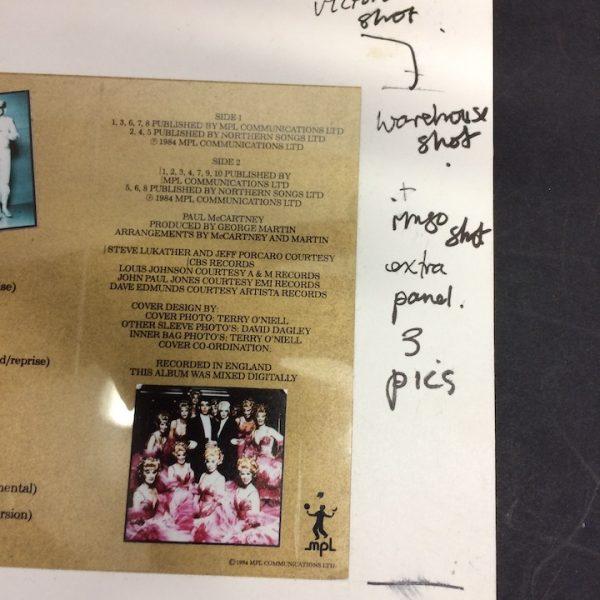 Paul McCartney Beatles Original Production Album Cover Artwork for Give My Regards To Broad Street