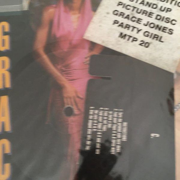 grace jones party girl 7 inch vinyl standee