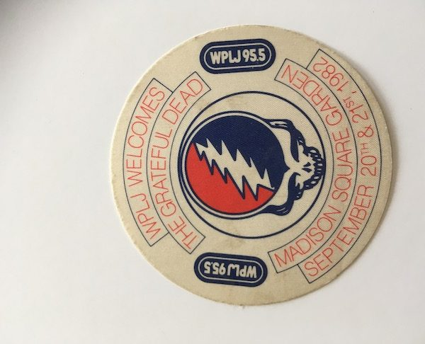 Grateful Dead Original 1982 Tour Stcker