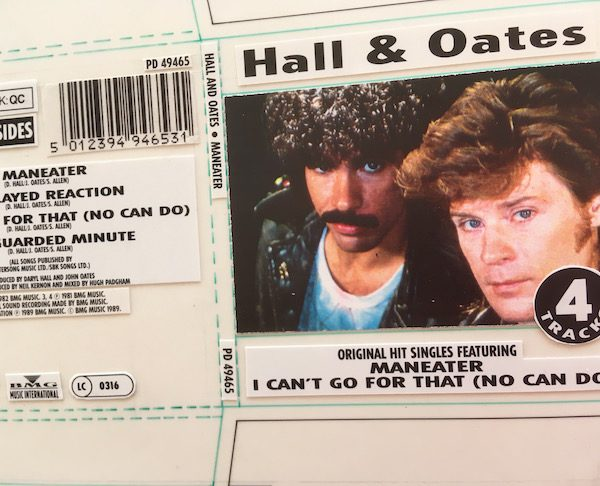 Hall & Oates Original Cover Artwork For Maneater3 Inch CD