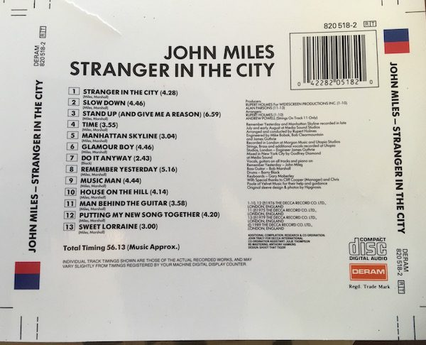 John Miles Original Artwork And Cromalin Proof For Stranger In The City