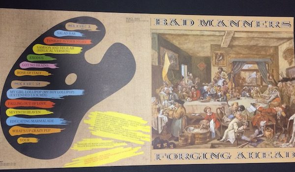 Original proof album cover artwork for Bad Manners forging ahead