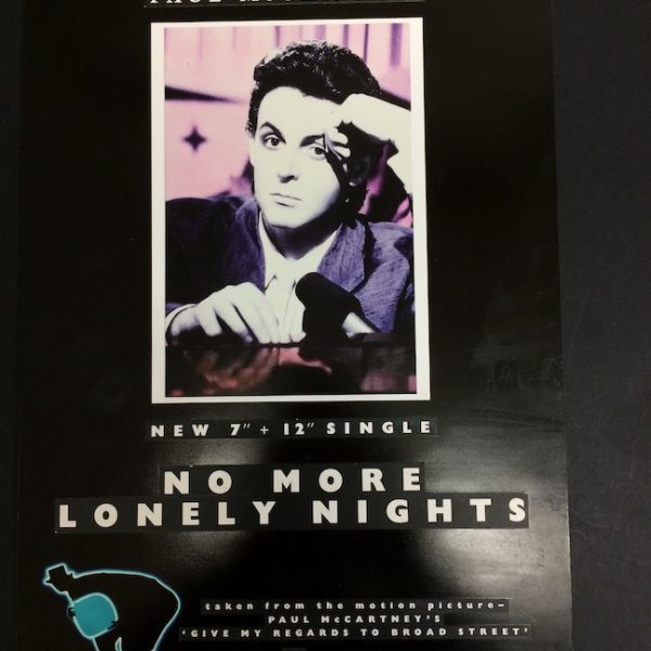 Paul McCartney Original Artwork for No More Lonely Nights Poster