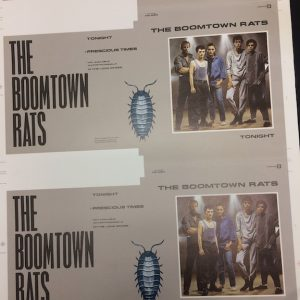 Boomtown Rats Original 7″ Single Proof Artwork for Tonight