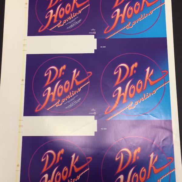 Dr Hook An Original Sheet of Uncut Proofs for the Vinyl Single Loveline
