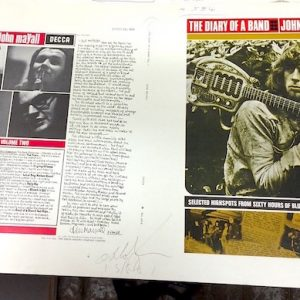John Mayall Diary of a Band Original Decca Proof Album Artwork