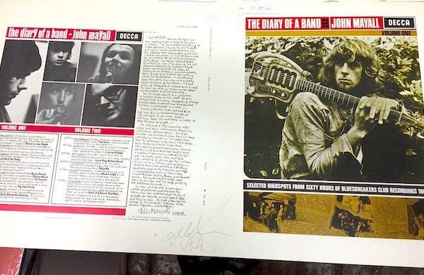 John Mayall Diary of a Band Original Decca Proof Album Artwork