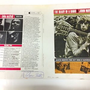 John Mayall Diary of a Band Original Decca Proof Album Artwork Vol2