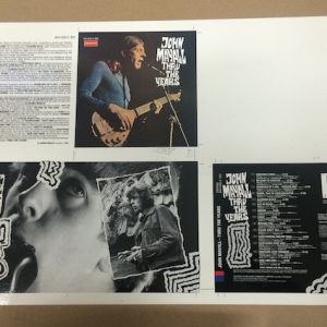 John Mayall Thru the Years Original rare cromalin proof album artwork