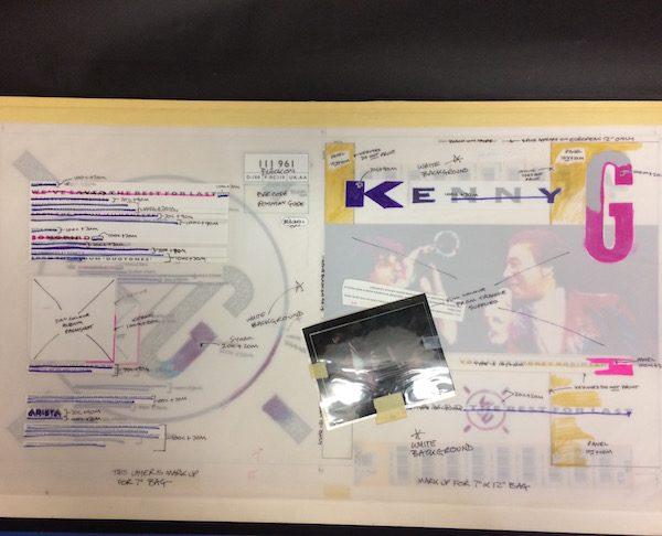 "Kenny G Original Production Artwork for We've Saved the Best For Last 7 inch & 12"" single"