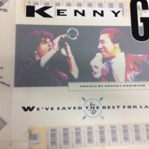 "Kenny G Original Production Artwork for We've Saved the Best For Last 7 inch & 12"" single"