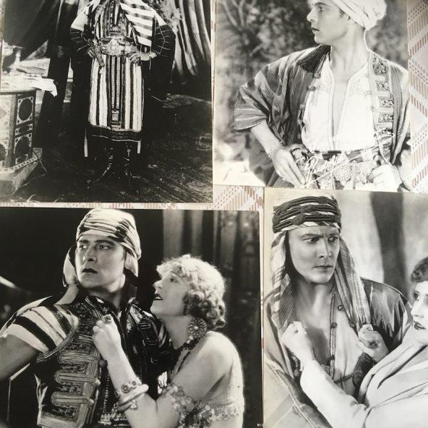 Rudolph Valentino 3 Movie Stills and a publicity photo