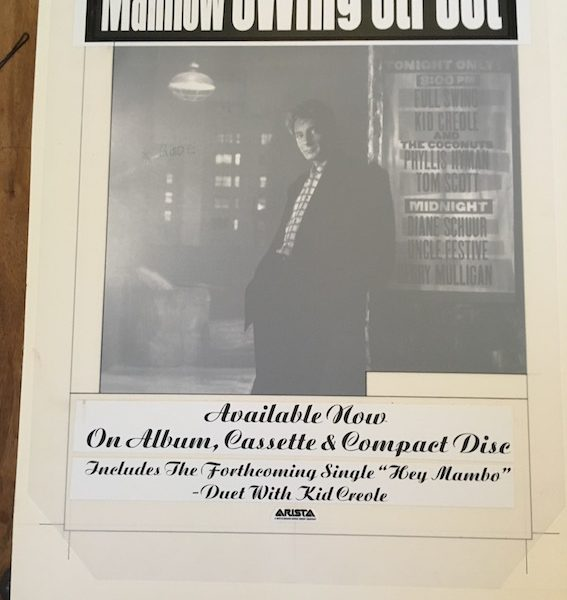 barry manilow swing street poster opa