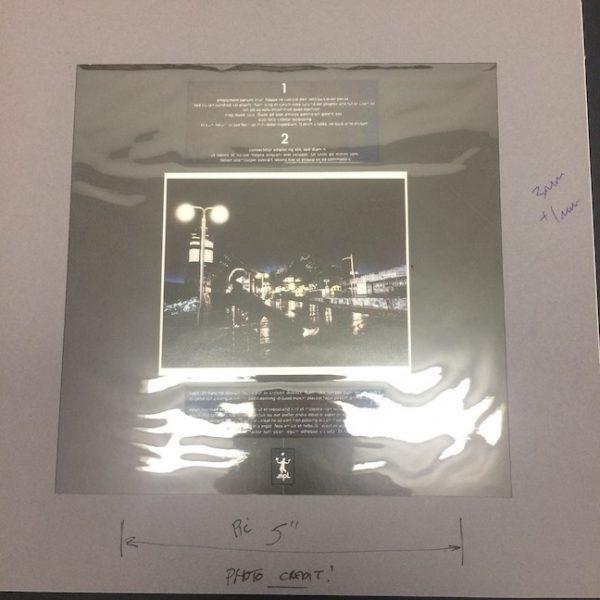 Beatles Paul McCartney Original Artwork for No More Lonely nights Vinyl single back cover
