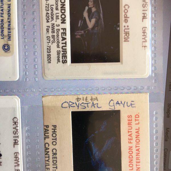 Crystal Gayle Rare 4 Professional Transparencies