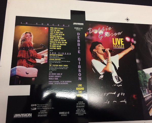 Debbie Gibson Original Proof Artwork for Live Around The World