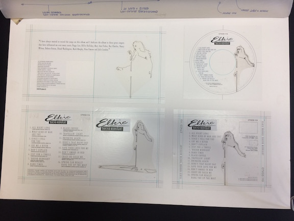 Elkie Brooks Original Production Album Artwork for 'Round Midnight.