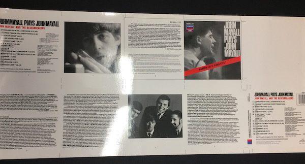 John Mayall plays John Mayall Original rare cromalin proof album artwork