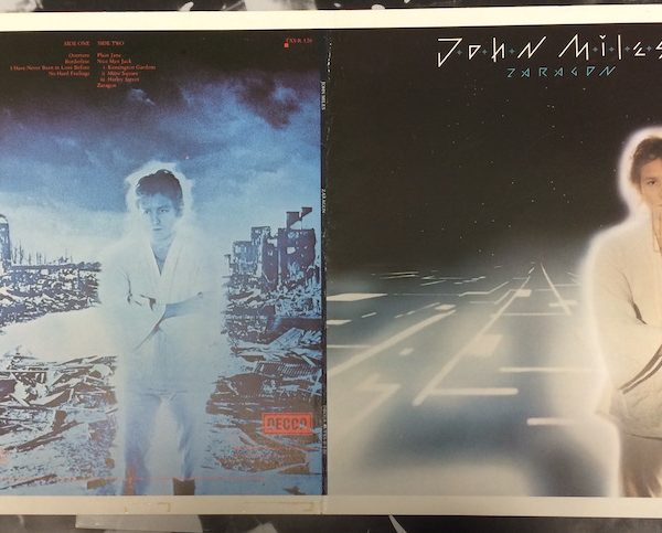 John Miles Original Proof Album Atwork for Zaragon