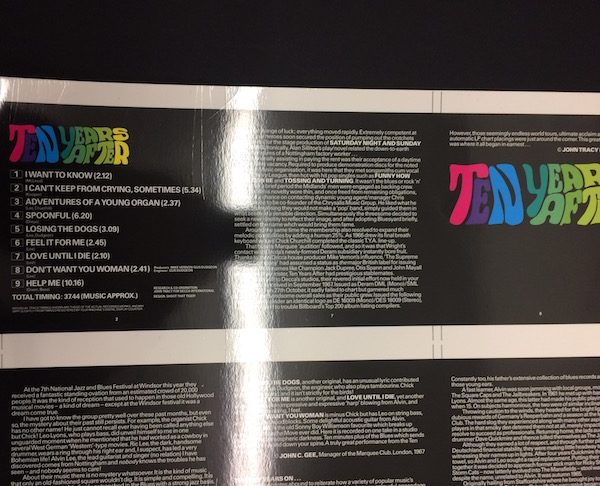 Ten Years After Rare Original Cromalin proof Album Artwork