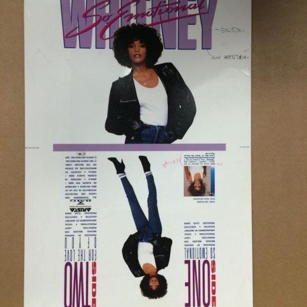 Whitney Houston Original Single Cover artwork Cromalin proof for 7″ So Emotional