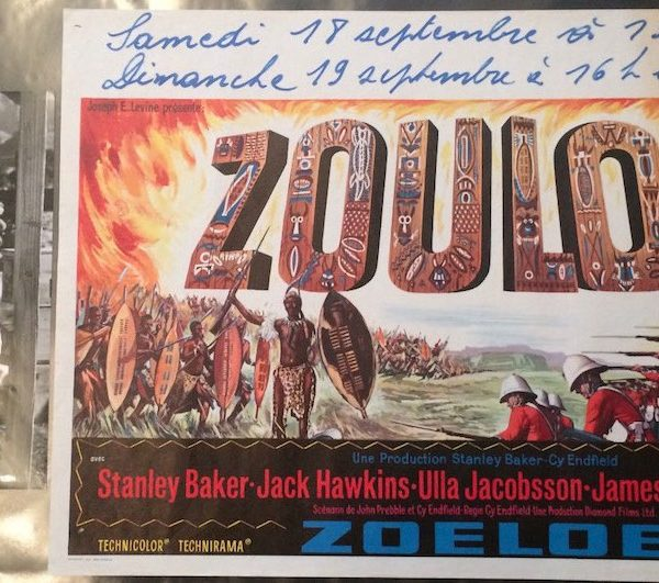 Original Zulu poster and signed Michael Caine Photograph