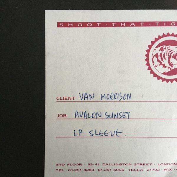 The Original album cover artwork for Van Morrisons Avalon Sunset