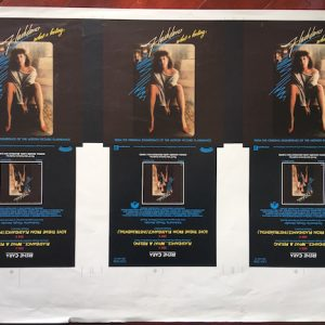 Flashdance original proof artwork for the What A Feeling vinyl single by Irene Cara