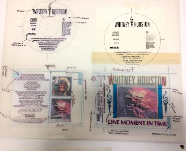 Whitney Houston The Original Master Unreleased Studio single cover artwork for One Moment in Time