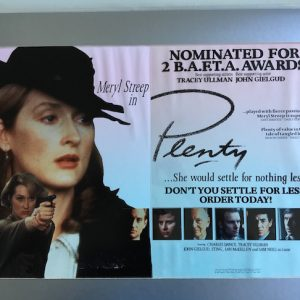 Meryl Streep PLENTY The Original Master Artwork for the Film Promotion