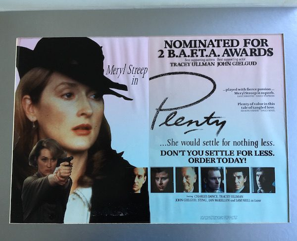 Meryl Streep PLENTY The Original Master Artwork for the Film Promotion